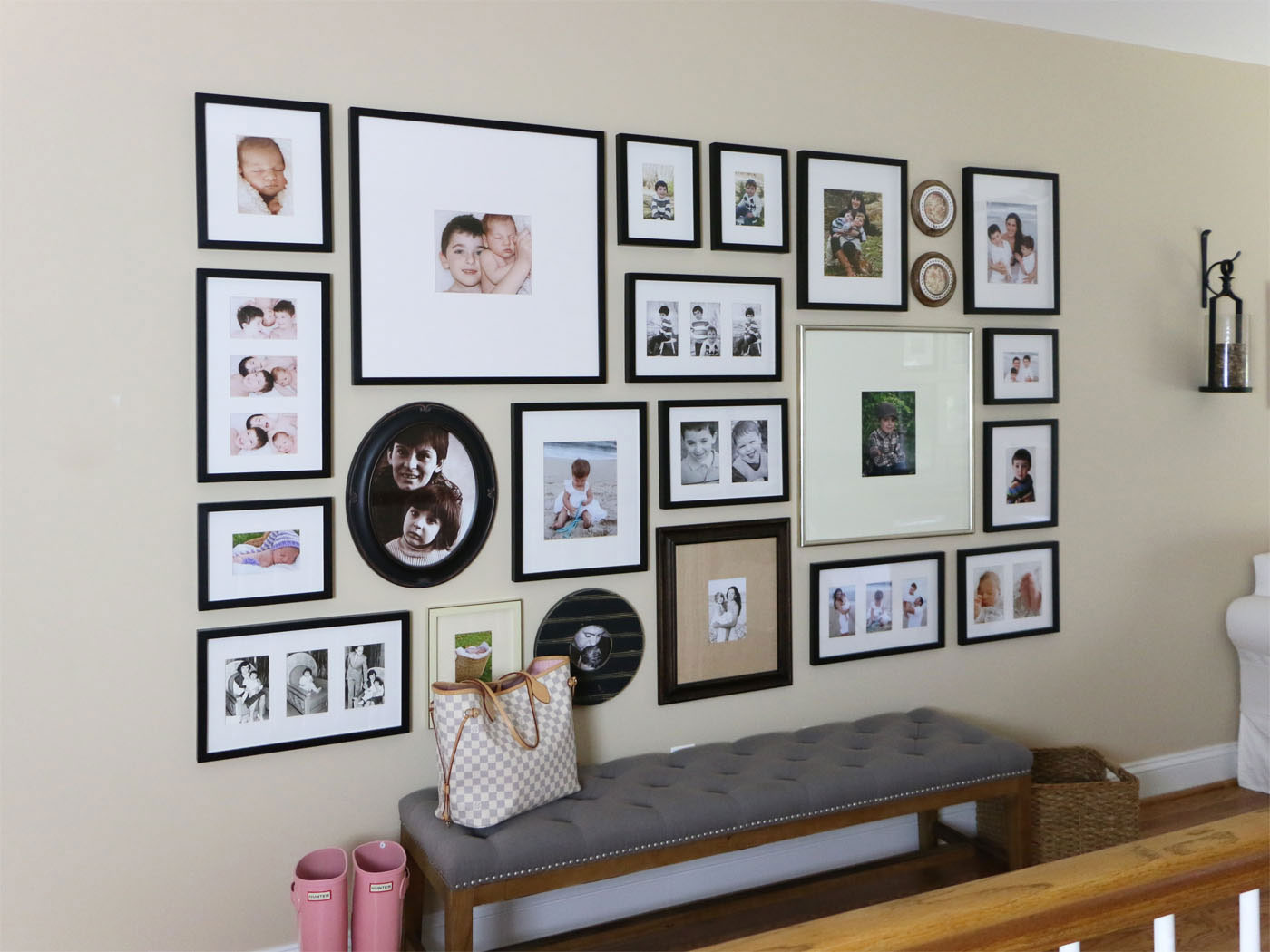 how to create a gallery wall tips and tricks. Black Bedroom Furniture Sets. Home Design Ideas